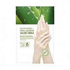 [Nature Republic]Real Squeeze Aloevera Moisture 手膜