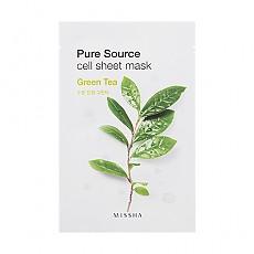 [Missha]純淨植物精華面膜貼21g-綠茶