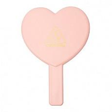 [3CE] Love 3CE Heart Hand 鏡子 (Peach Pink)