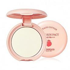 Skinfood] 桃子防曬控油物質粉餅t SPF42 PA+++ #01 (Clear)