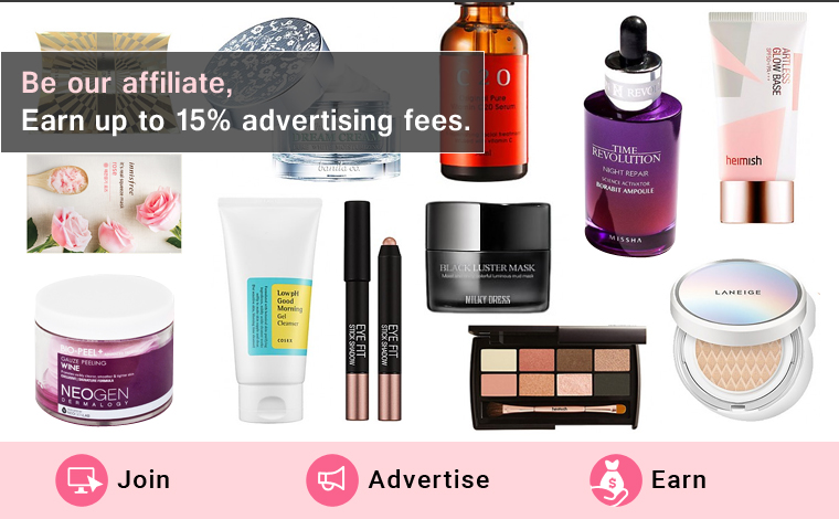 Affiliate Program Commissions on Korean Cosmetics