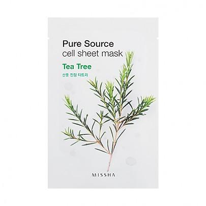 [Missha]純淨植物精華面膜21g-茶樹