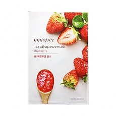 [悦诗风吟]Innisfree真萃鲜润面膜1片-草莓(柔嫩光彩)20ml(贴片式)
