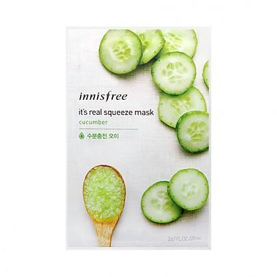 [Innisfree]真萃鮮潤面膜1片-黃瓜(柔嫩水潤)20ml(貼片式)