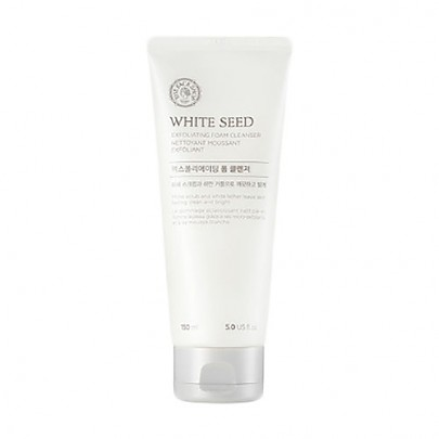 [The face shop] White Seed Exfoliating Foam Cleanser (140ml)