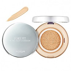 [Skinfood] Pore Fit Pure Skin Cushion SPF50+ PA+++#02 (Nude Vanila) 氣墊BB霜
