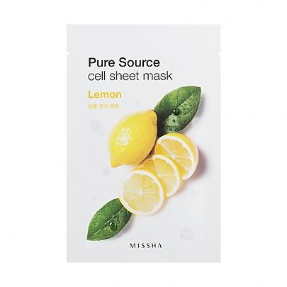 [Missha]純淨植物精華面膜貼21g-檸檬