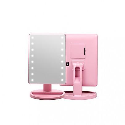 [CORINGCO]粉紅色Bling Bling LED觸摸鏡