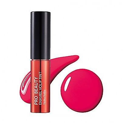 [HolikaHolika] 染唇液 Pro : Beauty Enamel Volip Tint #CR01 Flash Coral