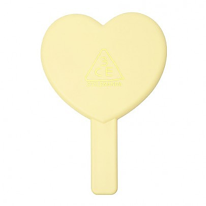 [3CE] Love 3CE Heart Hand 鏡子 (Yellow)
