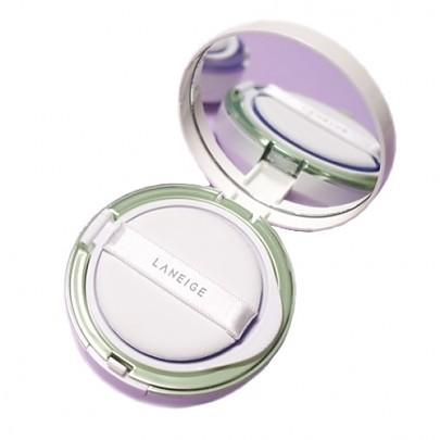 [Laneige] 雪紗絲柔飾底隔離氣墊粉霜 (Light Green) SPF22 PA++