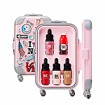 [Peripera] 旅行拉箱套盒 #01 (Pink)