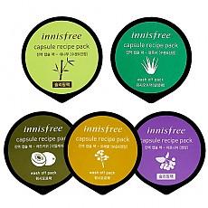 [Innisfree] Capsule Recipe Pack 5ea (Red Kiwi & Aloe & Bamboo & Aronia & Canolahoney)