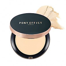 [MEMEBOX] PONY EFFECT Cover Fit Powder Foundation SPF40 PA+++ (Natural Ivory)