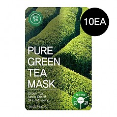 [Tosowoong] Pure Green Tea Mask 10pcs