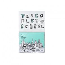 [酷酷的学校]恐龙广场吸油面纸 附粉扑和镜子 50张