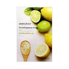 [Innisfree]真萃鮮潤面膜1片-酸橙(白淨光澤)20ml(貼片式)