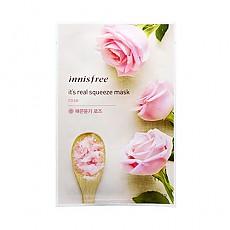 [Innisfree]真萃鮮潤面膜1片-玫瑰(柔嫩亮膚)20ml(貼片式)