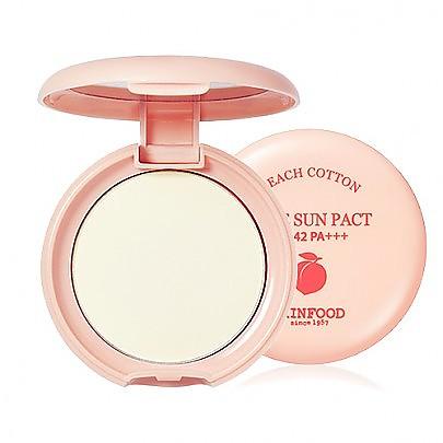 [Skinfood] 桃子防曬控油物質粉餅t SPF42 PA+++ #01 (Clear)