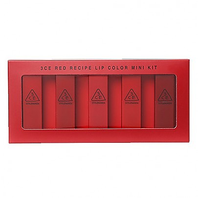 [3CE] Red Recipe Lip Color Mini Kit
