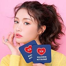 [3CE] 小狐狸  2018春夏新款 Maison Kitsune Square Mini Hand Mirror