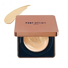 [MEMEBOX] PONY EFFECT Cover Stay Cushion Foundation SPF40 PA+++ (Nude Beige)